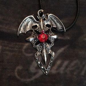 BEAUTIFUL BLOOD RED 🧛♂️ DRACULA PENDANT🧛♂️
